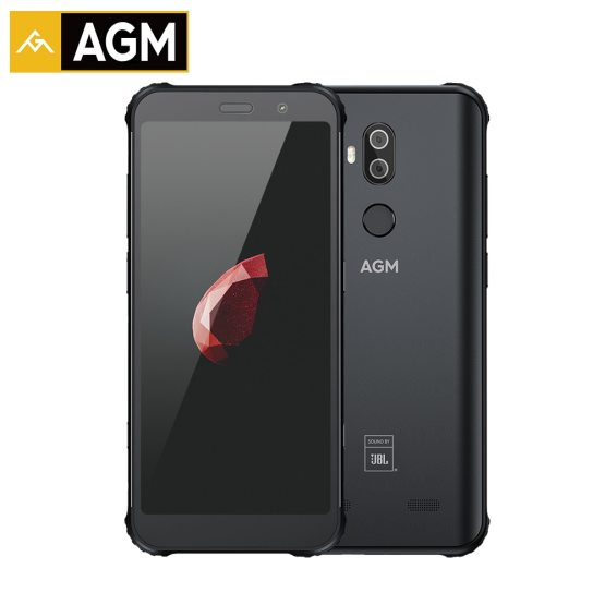 "AGM X3 6GB 64GB IP68 Android 8.1 Snapdragon 845 5.99"" Rear 12MP+24MP Front 20MP Camera Fingerprint NFC Waterproof Smartphone"