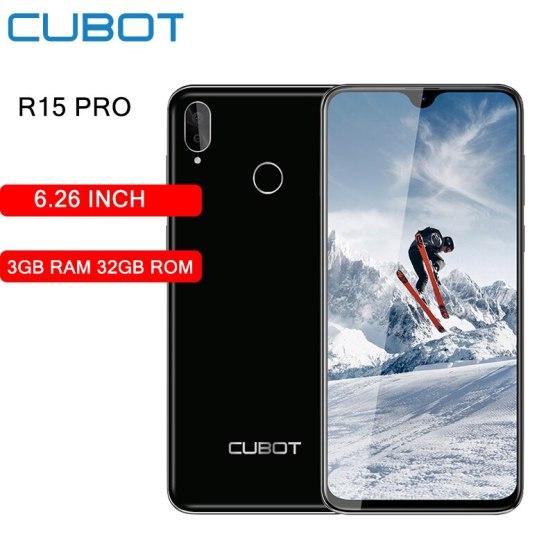 6.26 inch Cubot R15 Pro Waterdrop Smartphone Screen Quad Core 3GB RAM 32GB ROM Dual Rear Camera 3000mAh Battery Mobile Phone