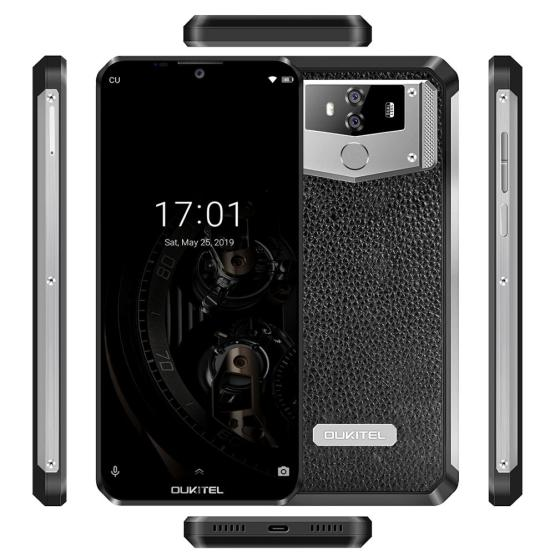 "OUKITEL K12 Android 9.0 Mobile Phone 6.3"" 19.5:9 MTK6765 6G RAM 64G ROM NFC 10000mAh 5V/6A Quick Charge Fingerprint Smartphone"