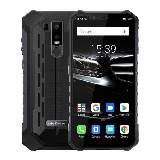 """Ulefone Armor 6E Mobile Phone IP69K Waterproof Android 8.1 6.2"""" FHD+ Helio P7O Octa Core 4GB+64GB Wireless Charge Smartphone NFC"""