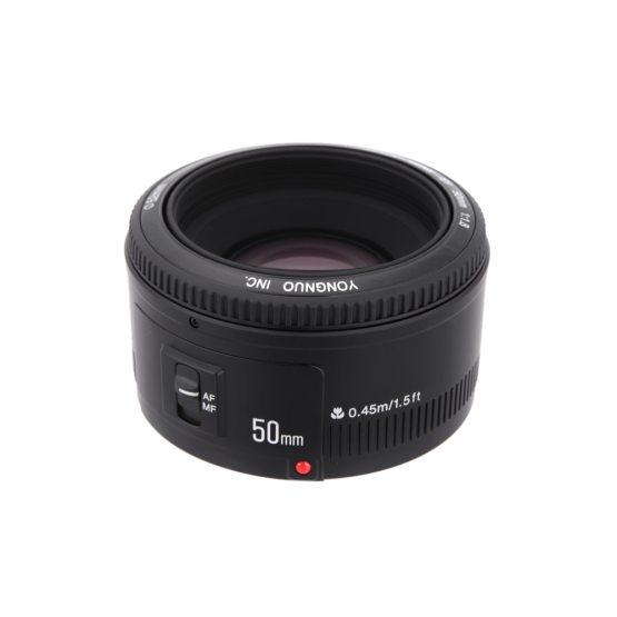 Lens fixed focus lens EF 50mm F/1.8 AF/MF DSLR Camera YONGNUO YN 50mm Lens fixed focus lens EF 50mm F/1.8 AF/MF lense Large Aperture Auto Focus Lens For Canon DSLR Camera