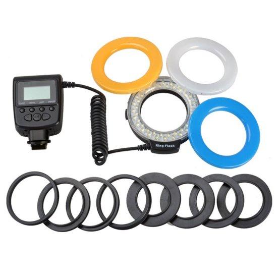 Macro LED Ring Flash Light For Canon For Nikon For Panasonic For Pentax For Olympus DSLR Camera