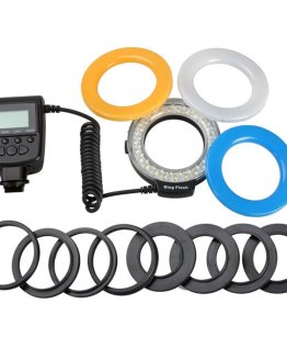 Macro LED Ring Flash Light For Canon For Nikon For Panasonic For Pentax For Olympus DSLR Camera