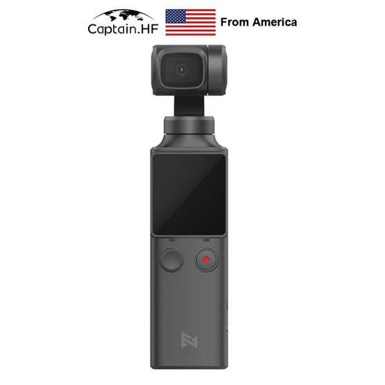 US Captain WIFI Bluetooth PALM3-Axis 4K HD Handheld Gimbal Camera Stabilizer 128° Wide Angle Smart Track Pocket Video Camera