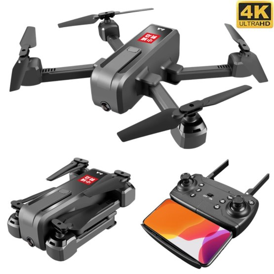 Foldable Drone with 4K / 1080P 16MP Camera WiFi FPV Live Video Keep Flying Height Selfie Drone Foldable Mini Dron RC Quadcopter