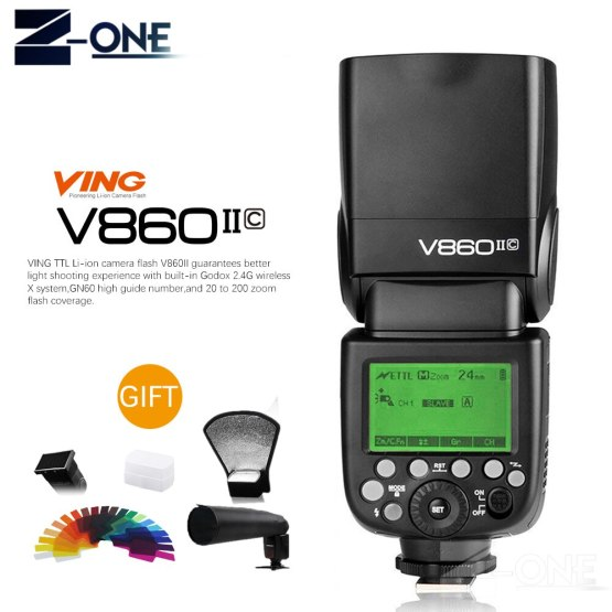 Godox Ving V860II V860II-C/N/S/F/O E-TTL HSS 1/8000 Speedlite Flash for Canon Nikon Sony DSLR Camera Without VB-18 Battery