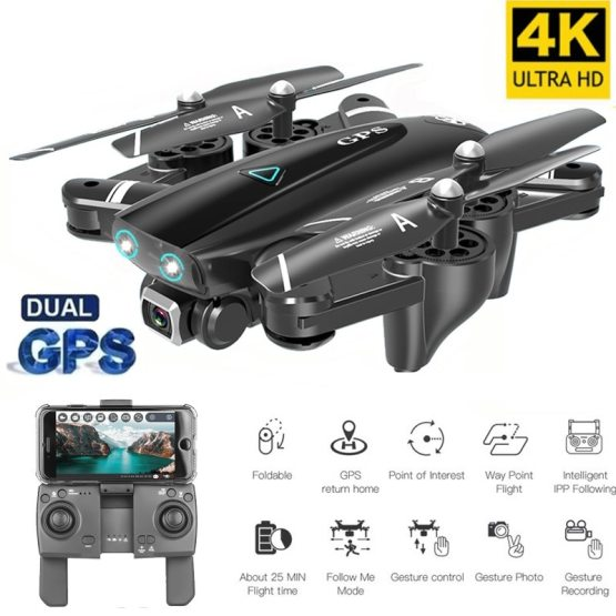 New GPS Drone With 4K Camera Smart RC Quadcopter Drones HD 1080P WIFI FPV Foldable Off-Point Flying Photos Video Dron Helicopter
