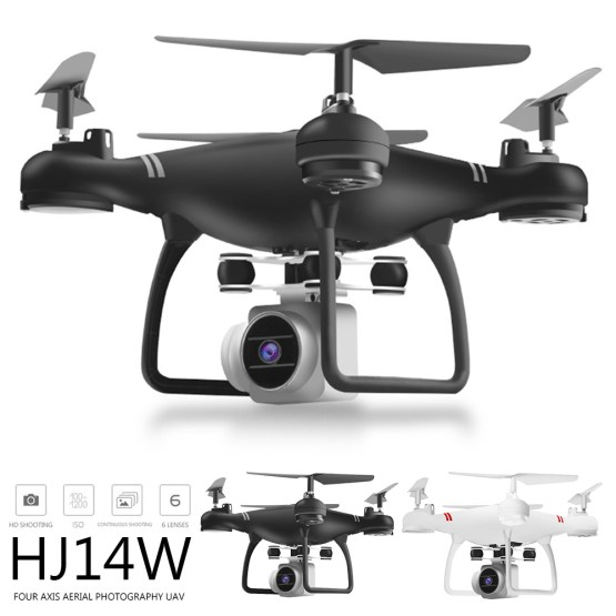 HJ14W WIFI FPV HD Foldable RC Quadcopter Camera Drones Four-axis Helicopter Airplane Aerial Remote Control Drone Extra Battery