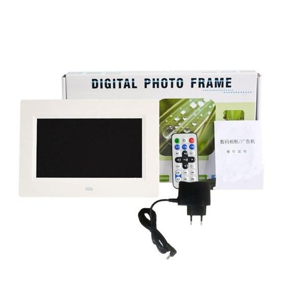 New 7 Inch Led Backlight Hd 1024*600 Full Function Digital Photo Frame Electronic Album Photo Desktop Photo Album Music Video
