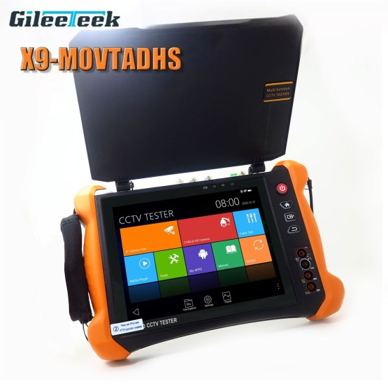 X9MOVTADHS IPC Tester Monitor H.265 4K 8MP camera Full-featured professional test tool with TDR,Cable tracer,Digital Multimeter