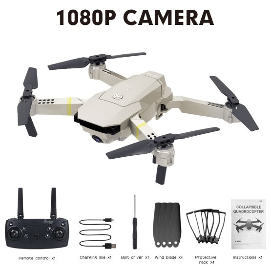 High Quality E58 WIFI FPV With Wide Angle HD Camera High Hold Mode Foldable Arm RC Quadcopter Drone With Remote Control