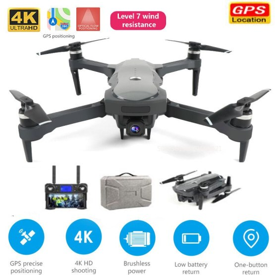 Profession Drone 4K GPS drone WiFi FPV Quadcopter brushless motor ESC camera Smart return drone with camera Fly 1800 meters