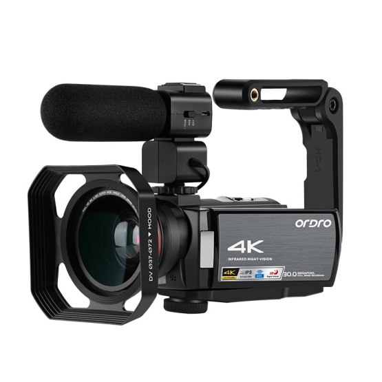 Ordro WIFI AE8 Vlog Camera Full HD Touch Screen 4K Video Kamera Digital IR Night Vision Camera Fotografica Profesional Camcorder
