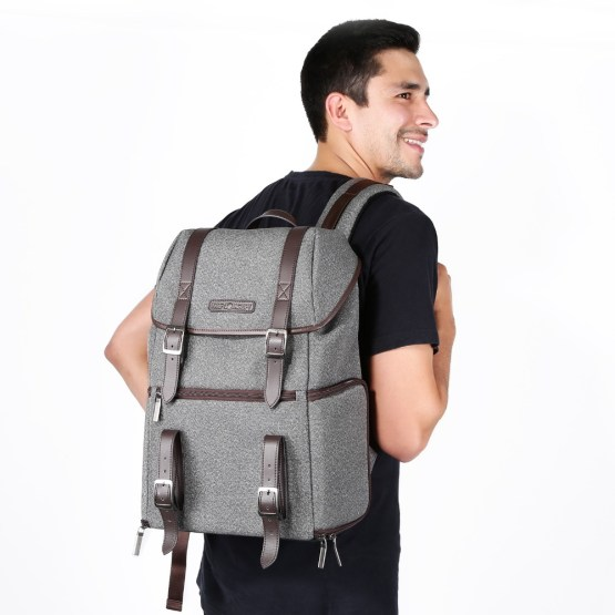 """K&F Concept DSLR Camera Backpack Multifunctional Waterproof Nylon Bag with 24L Capacity for 14"""" Laptop,Camera, Tripod,Lenses and"""