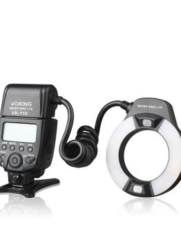 Voking TTL Macro LED Ring Flash VK-110N for Nikon D60 D90 D3000 D3100 D3200 D5000 D5100 D5200 D7000 D7100 DSLR Cameras