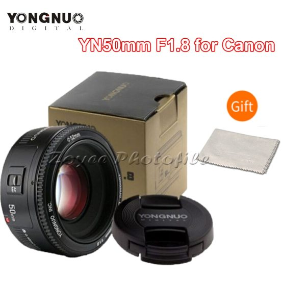 F1.8 Auto Focus Large Aperture Lense for DSLR Camera YONGNUO YN50mm F1.8 Camera Lens for Nikon F Canon EOS Auto Focus Large Aperture Lense for DSLR Camera D800 D300 D700 D3200 D3300