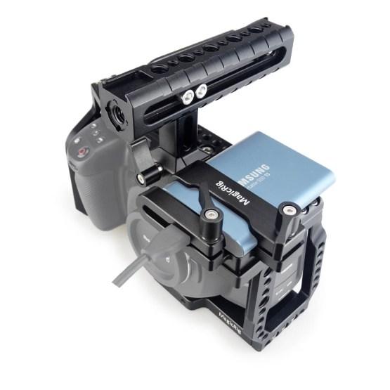MAGICRIG BMPCC 4K Camera Cage with NATO Handle + T5 SSD MAGICRIG BMPCC 4K Camera Cage with NATO Handle + T5 SSD Card Mount Clamp for Blackmagic Pocket Cinema Camera BMPCC 4K /BMPCC 6K