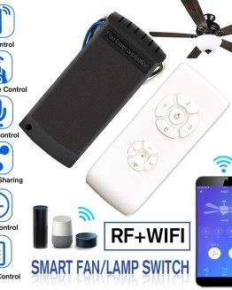 AC 100-240V WiFi+RF APP Smart Universal Ceiling Fan Lamp Remote Controller AC 100-240V WiFi+RF APP Smart Universal Ceiling Fan Lamp Remote Controller Kit Remote Adjust Speed Light Remote Control Switch