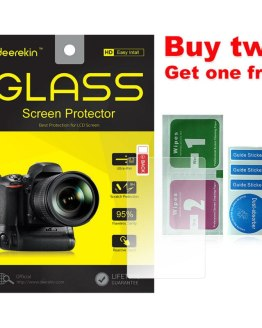 Deerekin 9H Tempered Glass LCD Screen Protector for Canon EOS M200 M100 100D 200D 250D / Rebel SL1 SL2 SL3 / Kiss X7 X8 X9 X10