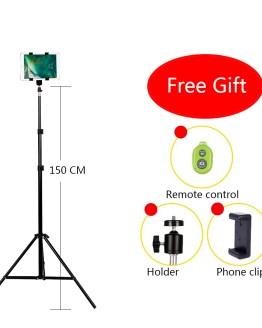 CY Aluminum DV Tripod Digital Camera Webcam Phone Tripod Metal Stand Mount Tripod For Phone iPhone With Bluetooth remote control