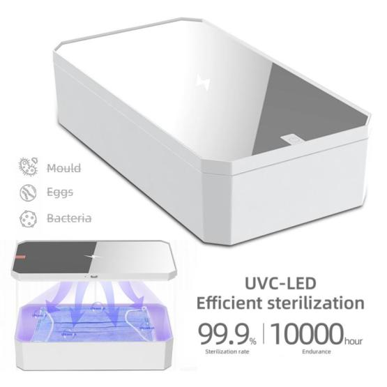 15W Portable 4 in1 UVC Disinfection Box Smart Mobile Phones Mask Jewellery Multifunctional Sterilizing Disinfection Fast Charing