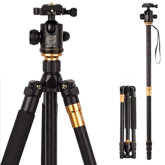 Hot Q999 Professional Photographic Portable Tripod To Monopod+Ball Head For Digital SLR DSLR Camera Fold 43cm Max Loading 15Kg