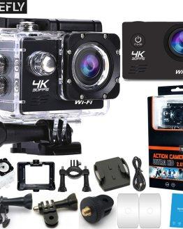 FIREFLY WIFI Action Camera 4K 30fps Ultra HD 16MP 170D 30m Underwater Waterproof Sport Helmet Video Recording Cameras Sport Cam