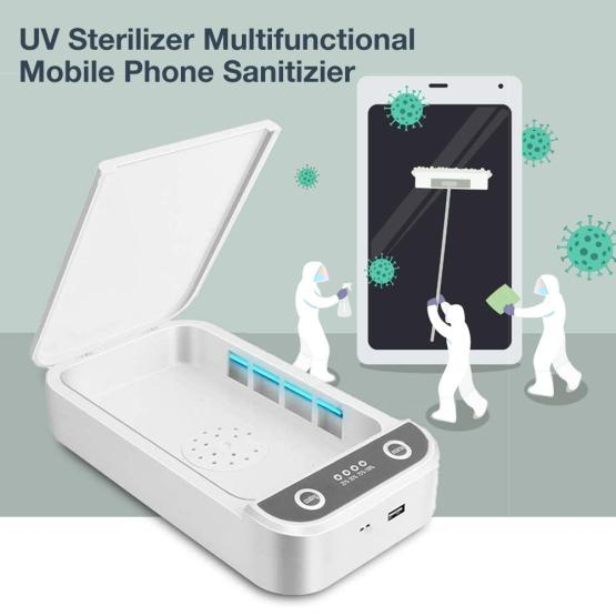 Portable Usb UV Led Sterilizer Phone Disinfection Box Wireless Charging Mobile Power Bank Jewelry Germicidal Aromatherapy