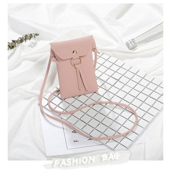 Fashion Small Change Purse Female Buckle Shoulder Bags Mini Messenger Bag Women Pouch for iPhone Samsung Xiaomi Huawei Case