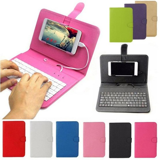 PU Leather Bluetooth Wireless Keyboard Case Protective Cover for iPhone iPad Huawei Xiaomi Samsung Mobile Phone Tablet 2020