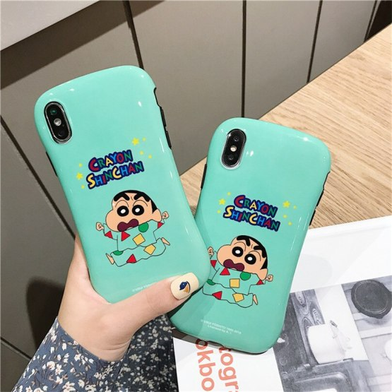 cute Cartoon Small waist White pajamas Crayon Shinchan For iphone 6 6S 7 8Plus iphone X XR 11 pro MAX Case Cover Phone Case