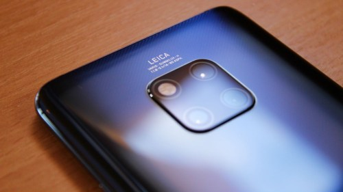 Huawei Mate 20 Pro back camera view