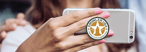 promotional pop sockets for business logo