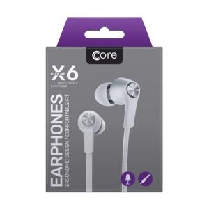 Earphones Core X6 White