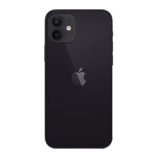 The back of iPhone 12 Black color