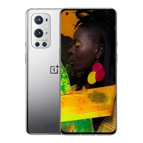 OnePlus 9 Pro front and Silver Back
