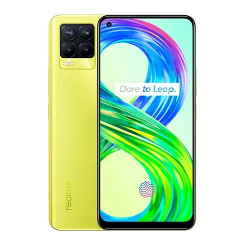 Realme 8 Pro Front Display and Yellow back