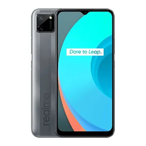 Realme C11 Front Display and Gray Back