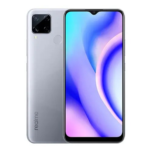 Realme C15 Front Display and Silver back