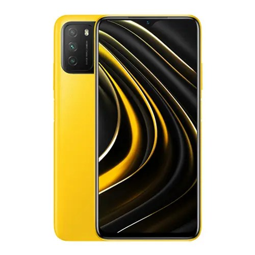Xiaomi Poco M3 front and Yellow back