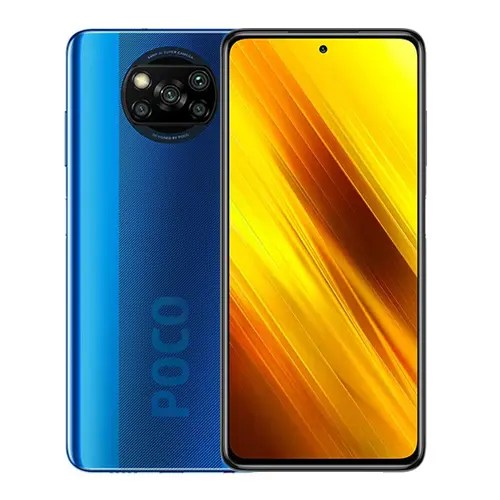 Xiaomi Poco X3 NFC front and Blue back