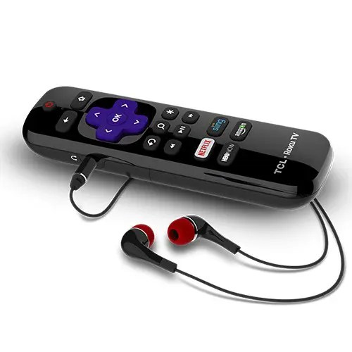 """TCL (65C8) 65"""" inch 4K UHD Dolby Vision HDR Roku Smart TV Enhanced Remote with EarPhones"""