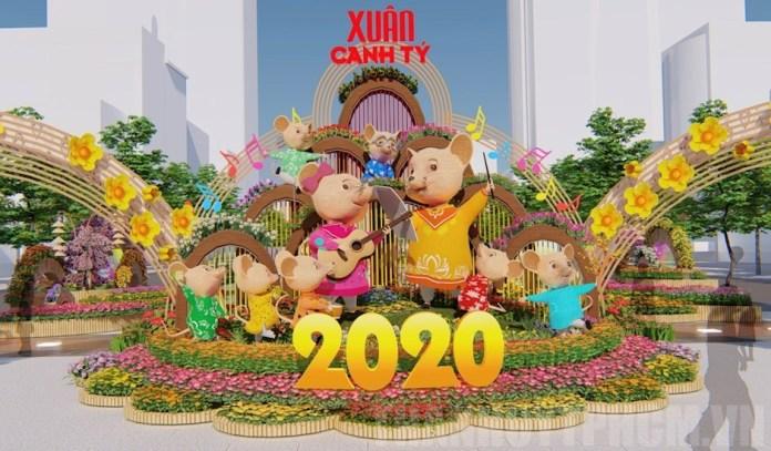 Đường hoa Tết 2020