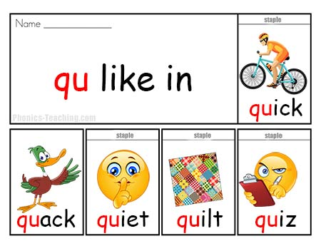 q Words - Flip Book - FREE & Printable - Ideal for ...
