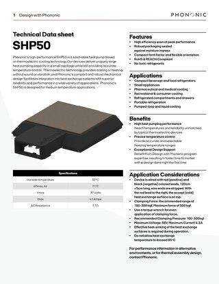 SHP 50 Datasheet