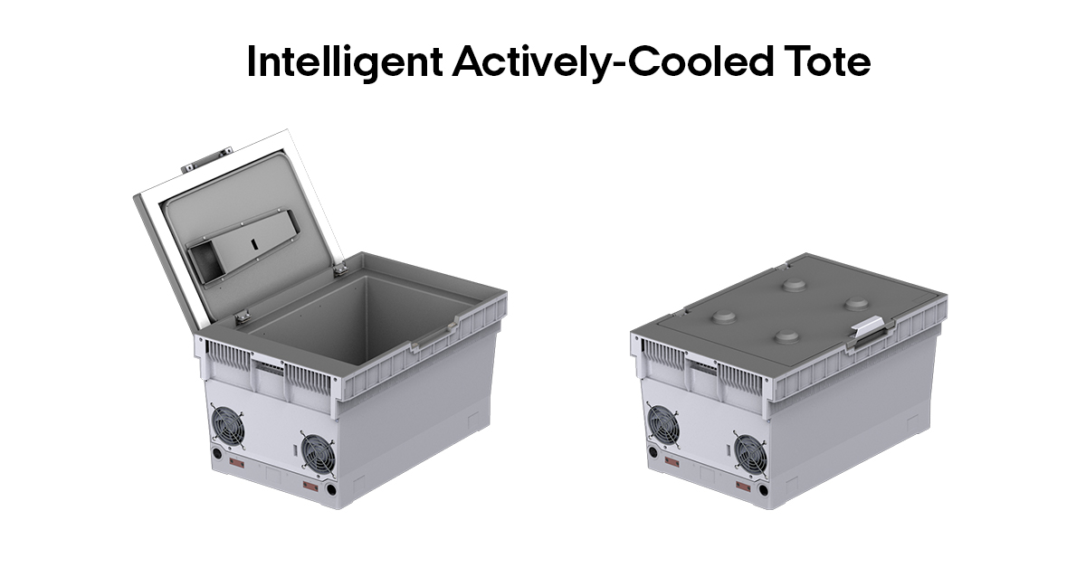 Intelligent Actively-Cooled Tote