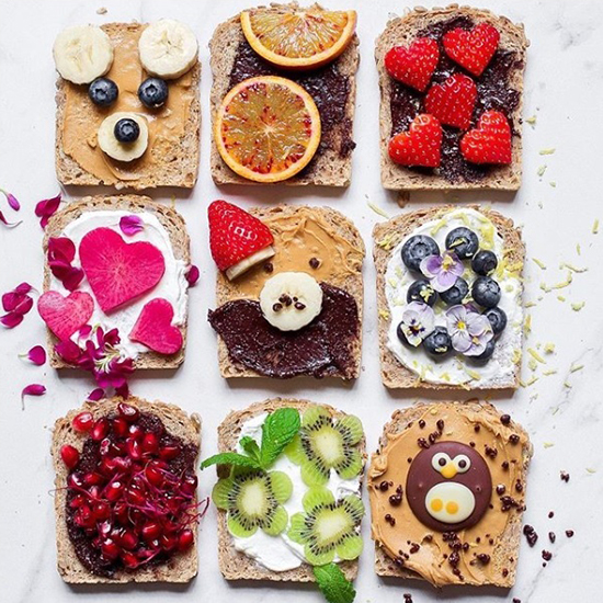 Bright Vegan Toast Food Styling