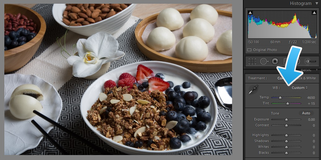 Granola Food Creatives Lightroom Color, color correct food photography