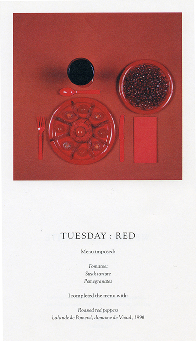 Sophie Calle Red Fine Art Creative Food Photography Jobs