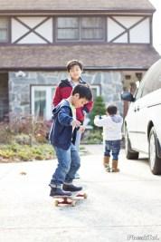 Ayden on the skateboard